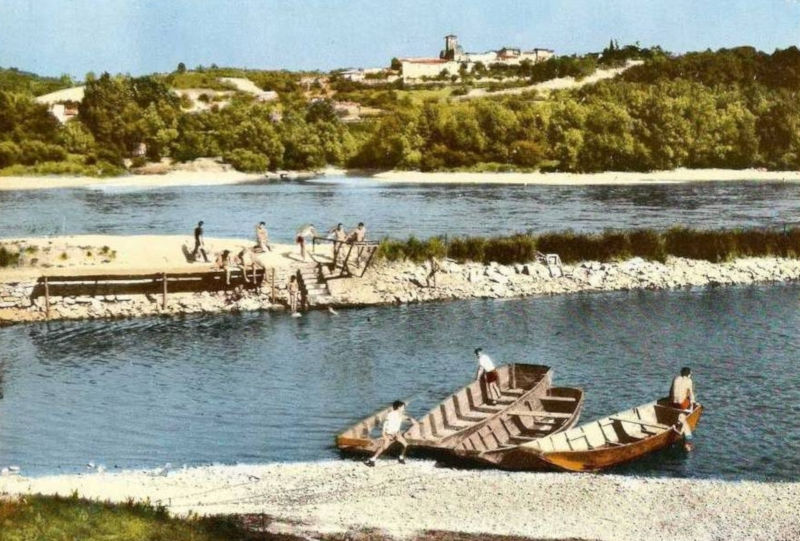 Bords du Rhône à Grigny