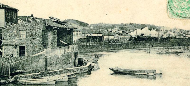 Les quais du Rhône à Vernaison