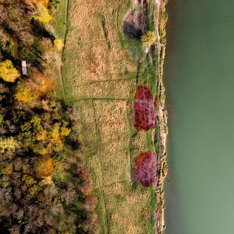 Prairie de la zone de grand écoulement vue du ciel - Régis Dondain & Ianis Cima