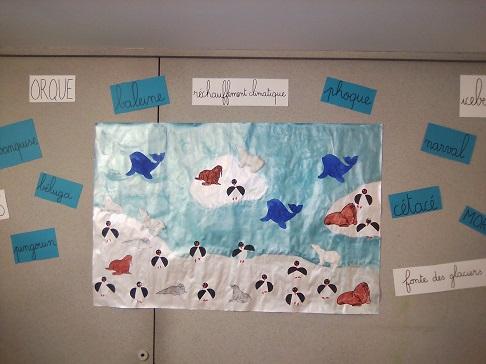 Fresque des animaux polaire Arts plastiques