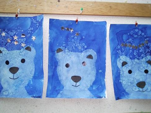 Ours polaire en arts plastique
