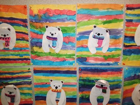 Ours polaire en arts plastiques